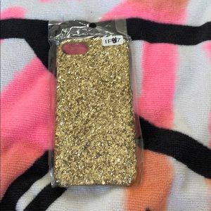 Accessories - iPhone 7/8 gold glitter case